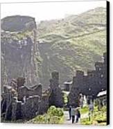 Tintagel Castle Canvas Print by Rod Jones