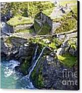Tintagel Waterfalls Canvas Print by Rod Jones
