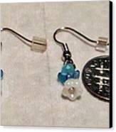 Tiny Angel Earrings Canvas Print by Kimberly Johnson