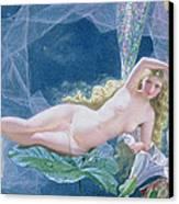 Titania Lying On A Leaf  Canvas Print by John Simmons