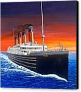 Titanic Canvas Print by David Linton
