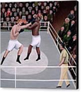 Title Fight Canvas Print by Jerzy Marek