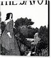 Title Page From The Savoy Canvas Print by Aubrey Beardsley