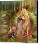 To Spin A Tale Canvas Print by Aimee Stewart