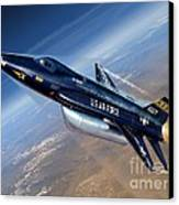To The Edge Of Space - The X-15 Canvas Print by Stu Shepherd