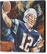 Tom Brady Canvas Print by Christiaan Bekker