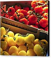 Tomatoes On The Market Canvas Print by Elena Elisseeva