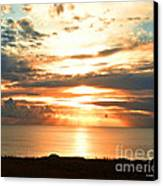 Tomorrow Is A New Day- Beach At Sunset Canvas Print by Artist and Photographer Laura Wrede