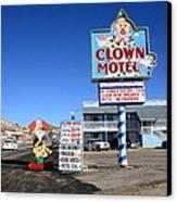 Tonopah Nevada - Clown Motel Canvas Print by Frank Romeo