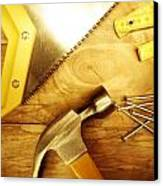 Tools Canvas Print by Les Cunliffe