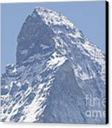 Top Of A Snow-capped Mountain Canvas Print by Mats Silvan