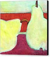 Touching Pears Art Painting Canvas Print by Blenda Studio