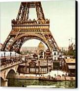 Tour Eiffel And Exposition Universelle Paris Canvas Print by Georgia Fowler
