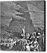 Tower Of Babel Bible Illustration Canvas Print by