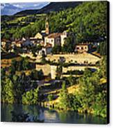 Town Of Sisteron In Provence Canvas Print by Elena Elisseeva