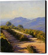 Track Along Walls Ledge Blackheath Canvas Print by Graham Gercken