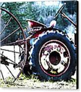 Tractor Hdr Canvas Print by Graham Foulkes