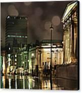 Trafalgar Square Rain Canvas Print by Heidi Hermes