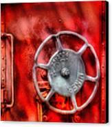 Train - Car - The Wheel Canvas Print by Mike Savad