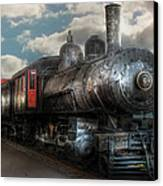 Train - Engine - 6 Nw Class G Steam Locomotive 4-6-0  Canvas Print by Mike Savad