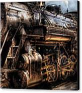 Train - Engine -  Now Boarding Canvas Print by Mike Savad