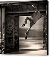 Train Jumping Canvas Print by Bob Orsillo