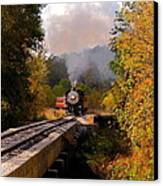 Train Through The Valley Canvas Print by Robert Frederick