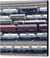 Train Wagons, South Portland Canvas Print by Dave Cleaveland