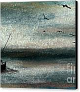 Tranquil Sea Canvas Print by R Kyllo