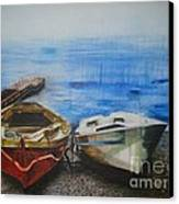 Tranquility Till Tide From The Farewell Songs Canvas Print by Prasenjit Dhar