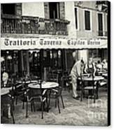 Trattoria In Venice  Canvas Print by Madeline Ellis