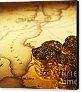 Treasure Map And Doubloons Canvas Print by Colin and Linda McKie