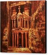 Treasury Of Petra Canvas Print by Tom Shropshire