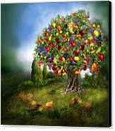 Tree Of Abundance Canvas Print by Carol Cavalaris
