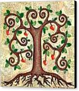 Tree Of Hearts Canvas Print by Lisa Frances Judd