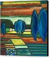 Trees Of Blue Canvas Print by Gergana Valkova