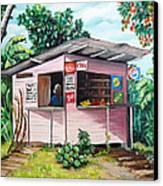 Trini Roti Shop Canvas Print by Karin  Dawn Kelshall- Best