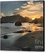 Trinidad Sunset Reflections Canvas Print by Adam Jewell