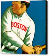 Tris Speaker Boston Red Sox Baseball Card 0520 Canvas Print by Wingsdomain Art and Photography