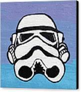 Trooper On Purple Canvas Print by Jera Sky