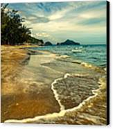 Tropical Waves Canvas Print by Adrian Evans