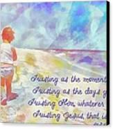 Trusting Canvas Print by Michelle Greene Wheeler