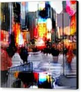 Tsquare Water Colors Canvas Print by Diana Angstadt