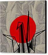 Tsuru Canvas Print by Cheryl Young