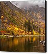 Tumwater Canyon Fall Serenity Canvas Print by Mike Reid