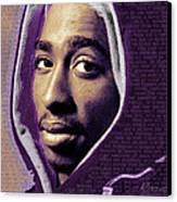 Tupac Shakur And Lyrics Canvas Print by Tony Rubino