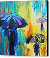 Turquoise Rain Canvas Print by Susi Franco