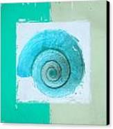 Turquoise Seashells X Canvas Print by Lourry Legarde