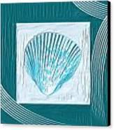 Turquoise Seashells Xxiii Canvas Print by Lourry Legarde