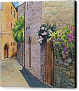 Tuscan Alley Canvas Print by Marguerite Chadwick-Juner